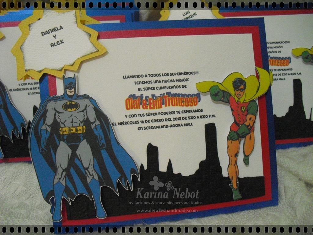 Karina Nebot: Invitaciones Batman y Robin