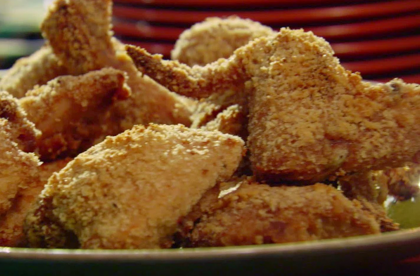 How to make panko and italian bread crumb baked chicken for Fried fish with bread crumbs