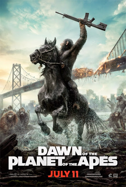 Dawn of the Planet of the Apes 2014 Hindi Dubbed SCAMRip 600MB