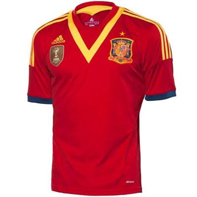 camiseta selección española Copa Confederaciones 2013