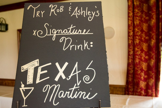 Texas Martini bar sign as the signature drink