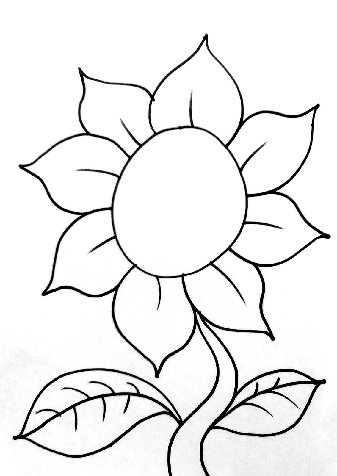 Selain itu kita membutuhkan gambar bunga untuk diwarnai Anda bisa menggambarnya sendiri atau men copy paste gambar bunga di bawah ini
