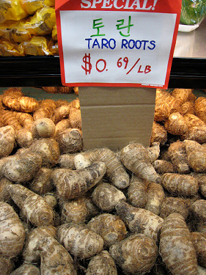 what to do with taro root