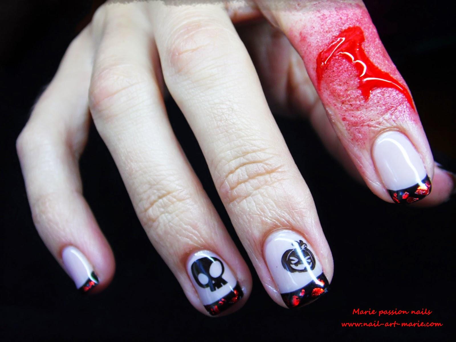 Nail Art d' Halloween en semi-permanent2