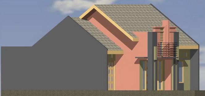 Contoh Rumah Minimalis: gambar denah rumah type 64