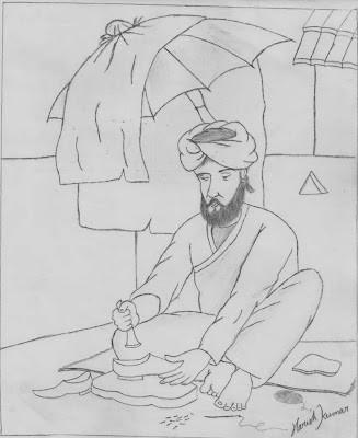 Drawing of Cobbler (Shoemaker)