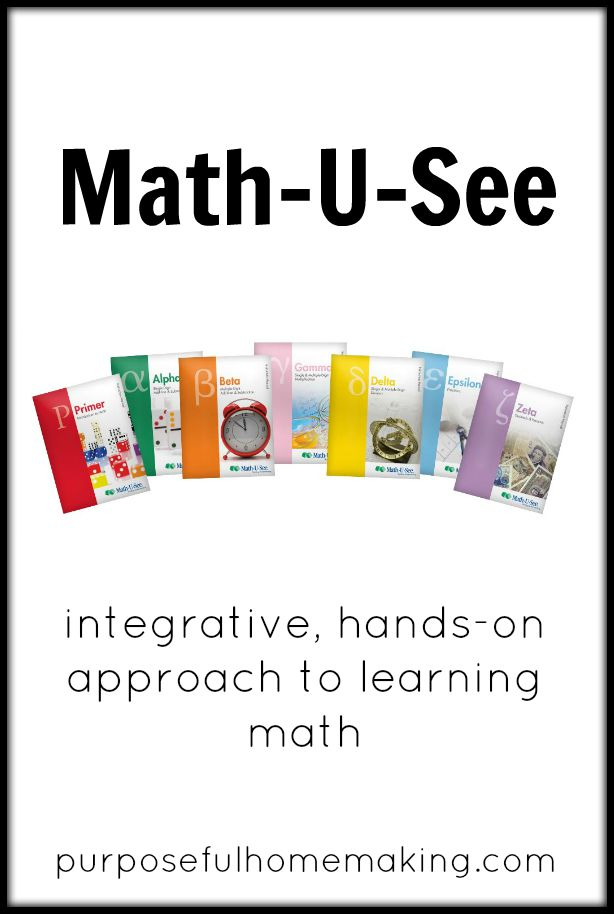 Purposeful Homemaking: Our {Very Happy} Experience with Math-U-See
