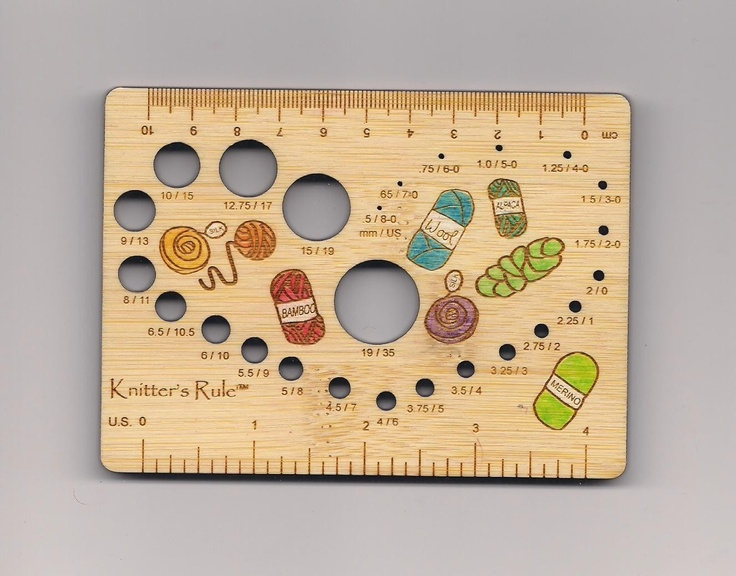 Knitting Gauge Tool : The knitting needle and damage done gauge this