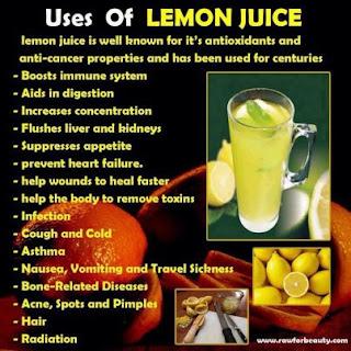 Lemon juice tips