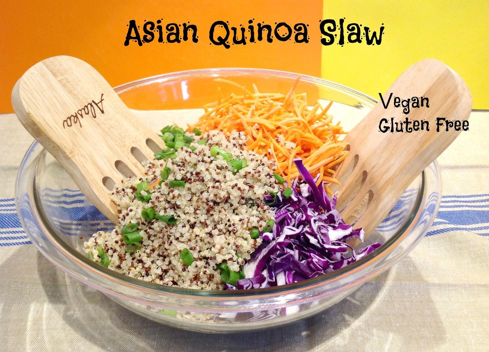 Gluten Free A-Z Asian Quinoa Slaw Salad