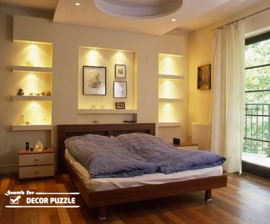 POP wall designs with lights modern for bedroom