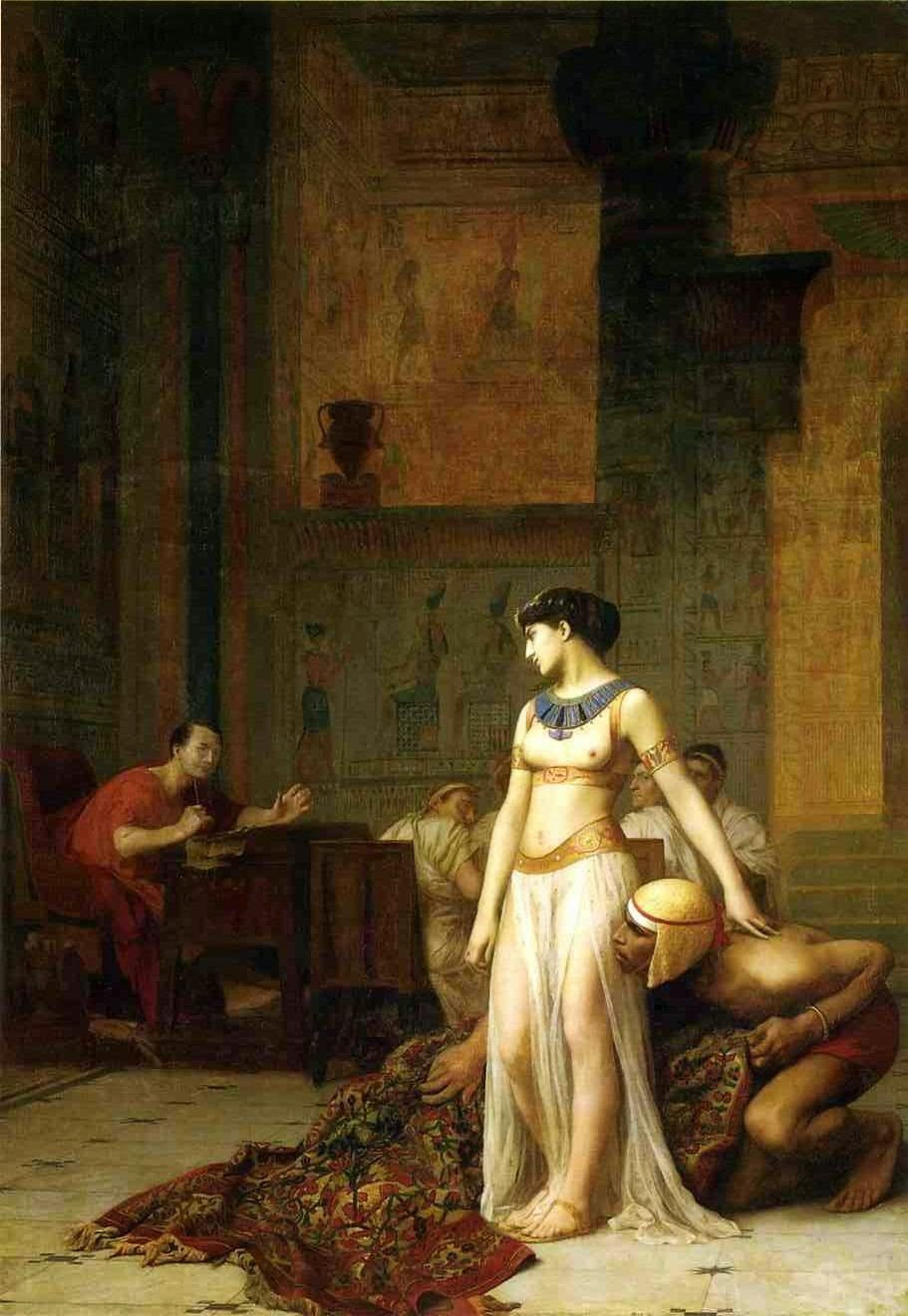 Cleopatra and Julius Caesar