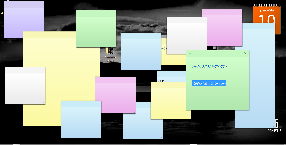 Sticky Notes... o Post-it Windows