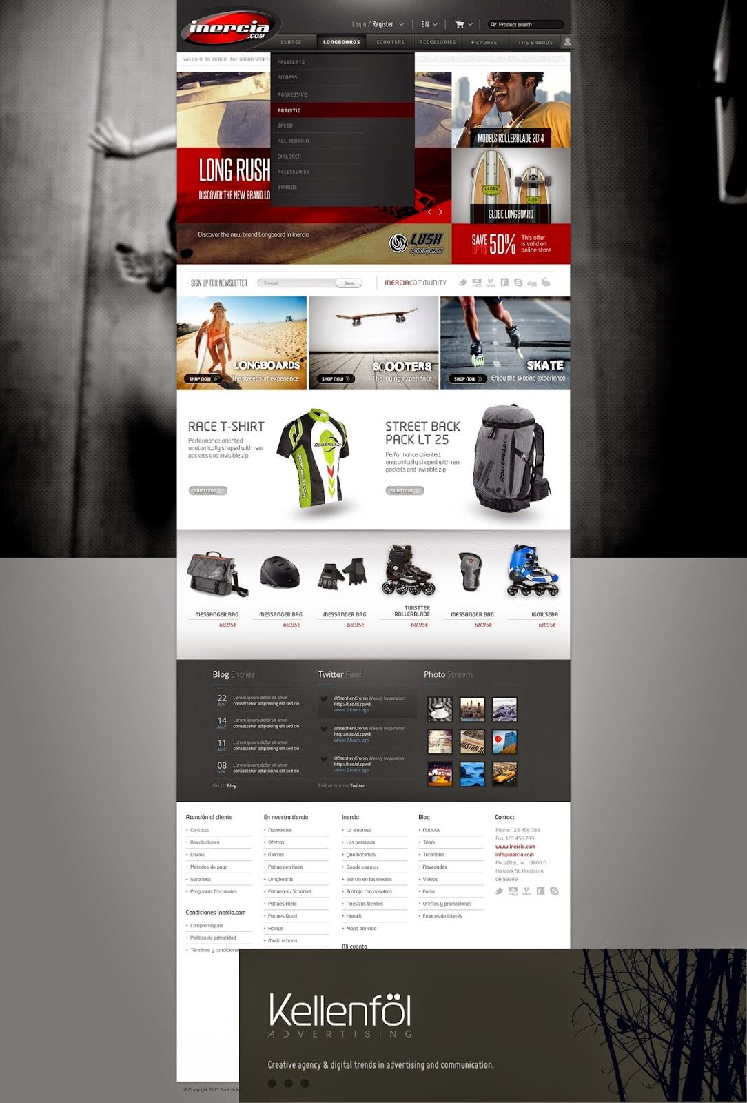 Kellenföl Agencia Publicidad Barcelona // Inercia patines web diseño