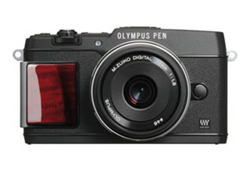 Fotografia della Olympus PEN E-P5 premium nel colore nero