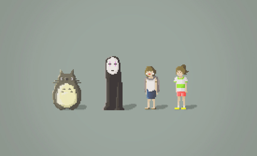 Ghibli Pixel Characters