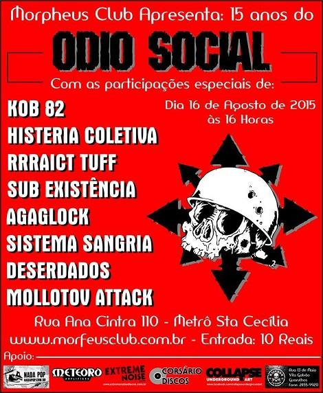16-08-2015 - ODIO SOCIAL - São Paulo - SP
