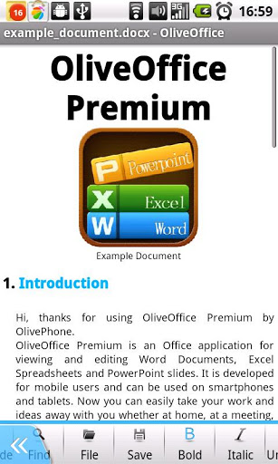 Application Name : Olive Office Premium