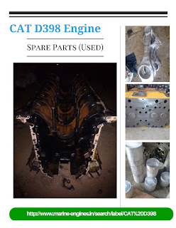 CAT D398, Crankshaft, Fuel Pump, Engine Block, Cylinder Head, Connecting rods, Pistons, Liner,