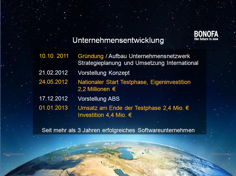 Unternehmensentwicklung Bonofa