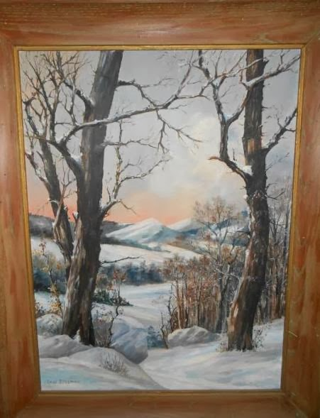 A winter landscape by Charles Sussman