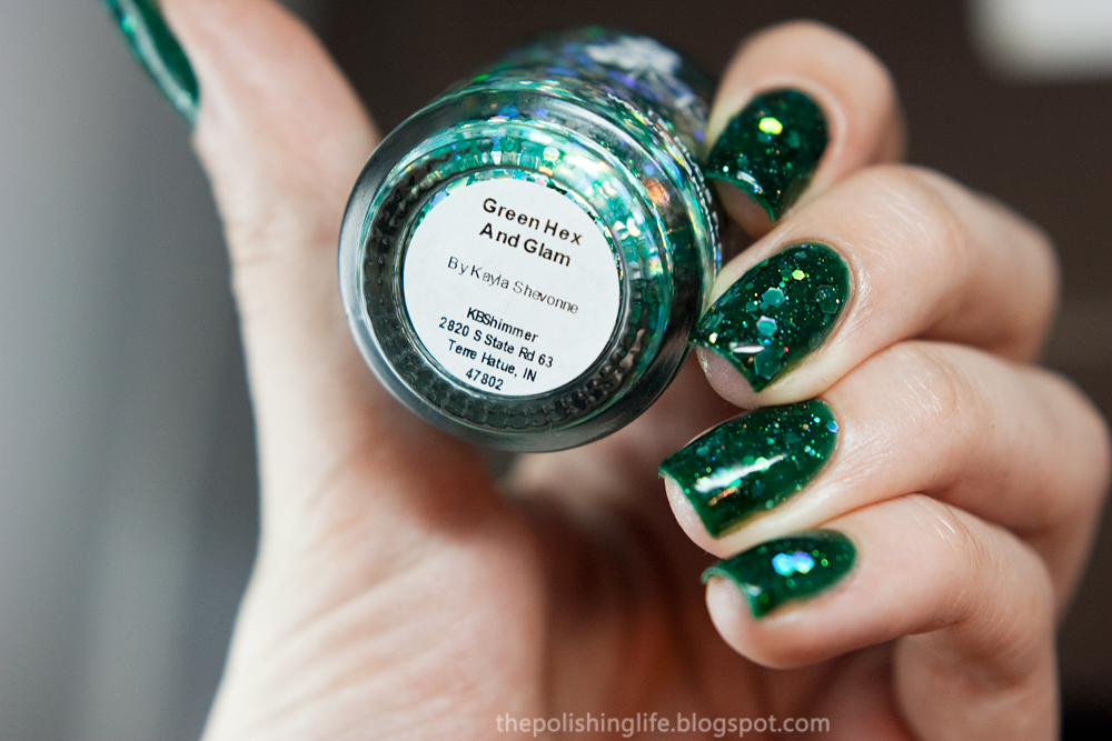 KBShimmer Green Hex and Glam swatches and review
