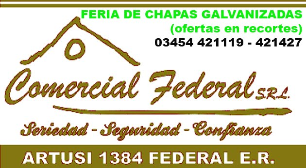 'COMERCIAL FEDERAL' / 03454 421119 - 421427