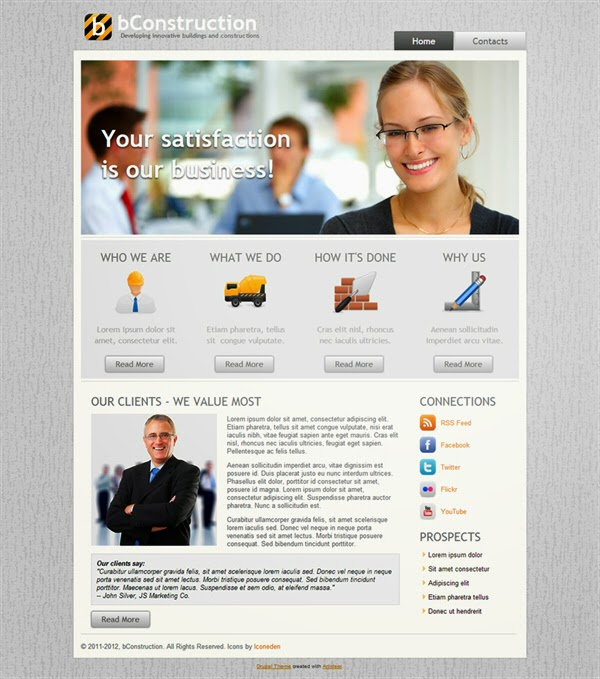 bConstruction - Free Drupal Theme