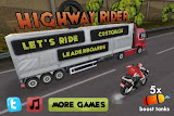 Highway Rider Main Screen