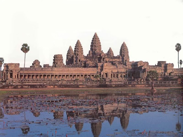The city of Angkor in Cambodia