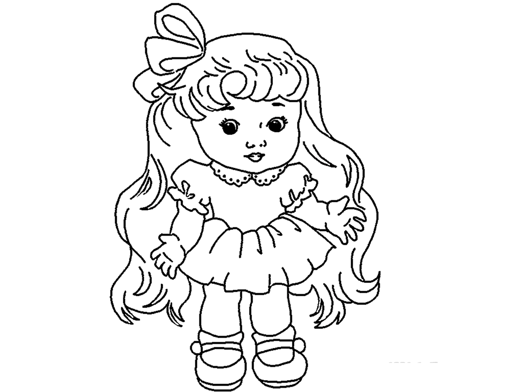 Christmas Doll Coloring Pages ~ Alltoys for