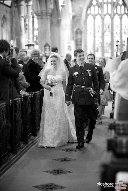 military wedding devon