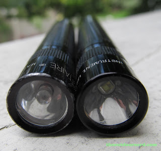 Maglite Solitaire LED With 25 Year Old Classic Version