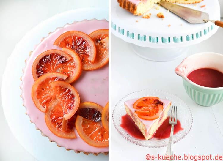 Blutorangen Kuchen Collage