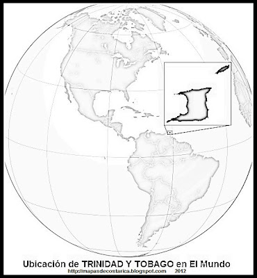 El Mundo. Ubicacin de TRINIDAD Y TOBAGO en El Mundo , blanco y negrowikipedia 