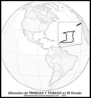 El Mundo. Ubicación de TRINIDAD Y TOBAGO en El Mundo , blanco y negrowikipedia