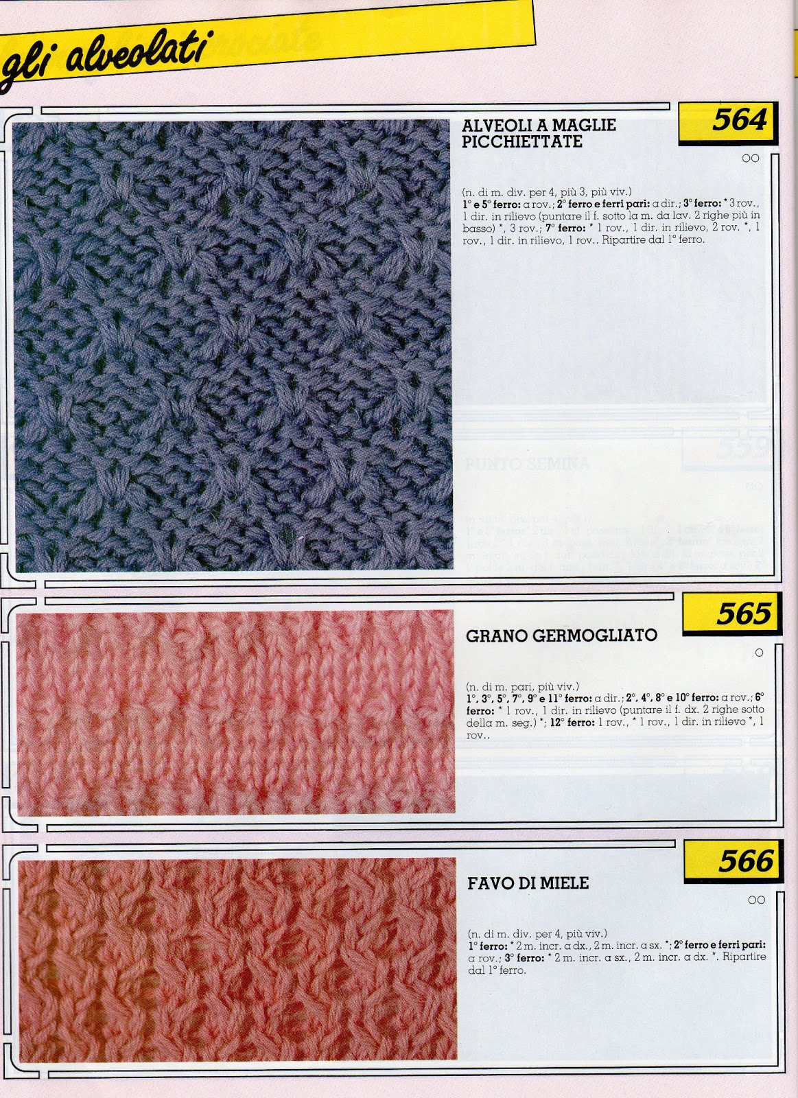 lo spazio di lilla: Collezione punti ai ferri 6 / Knitting ...