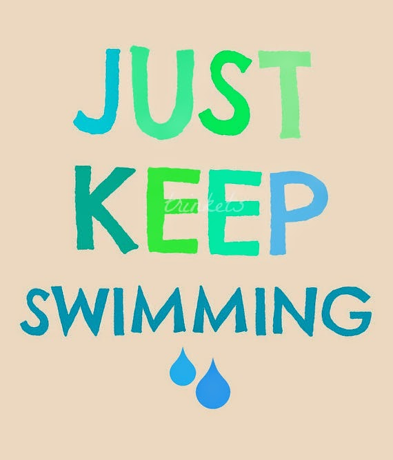 Just Keep Swimming print from Trinkets by Dana etsy