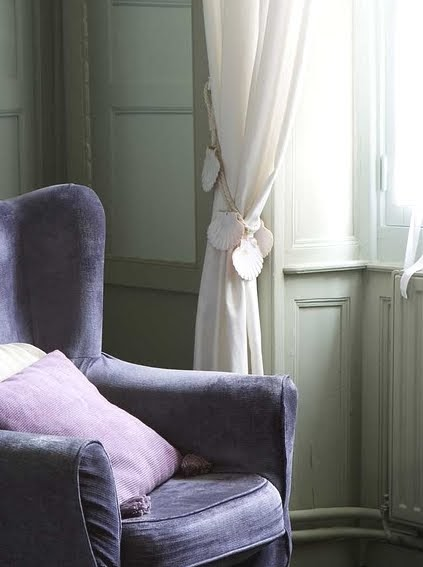 A Curtain Tie Back Idea With Rope And Shells Completely
