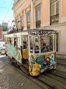 """Ascensor da Gloria"" funicular to Bairro Alto in Lisbon"