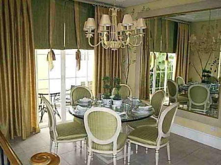 Green classic dining room design all about home and for B q dining room ideas