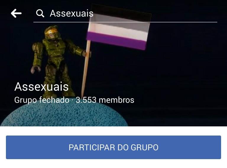 Grupo no Facebook Para Assexuais