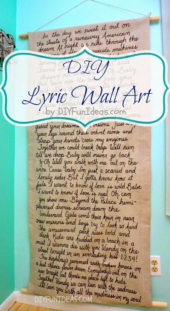 song lyric wall art