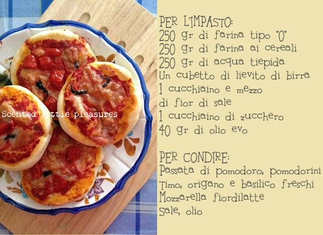 pizzette aromatiche ai cereali