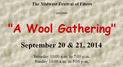 wool gathering fiber art festival in Ohio