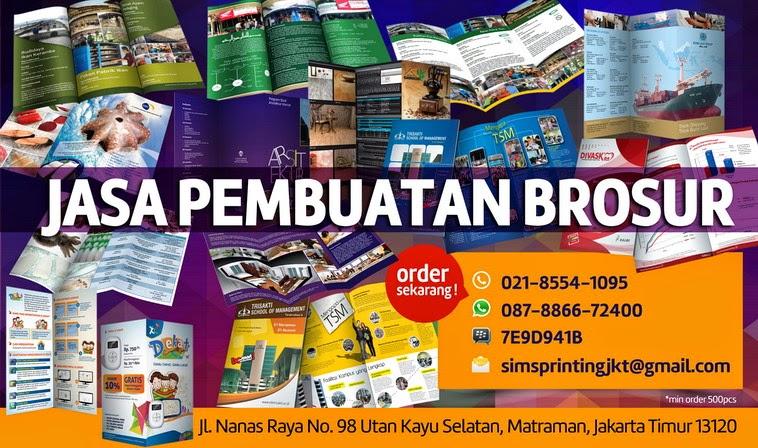 Jasa Cetak Brosur Online | Telp : 021-855-410-95, SMS/ WA: 08788-66-72400
