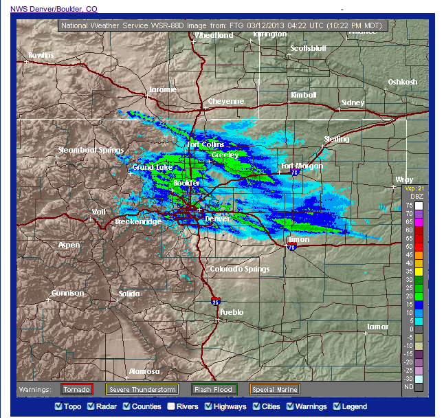 Colorado Weather Blog: Surprise Snow Comes To An End