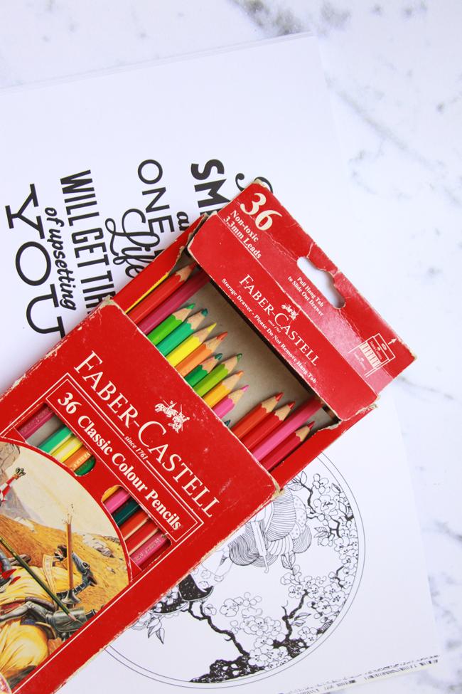 Sejauh Ini Sih Gue Baru Pake Pensil Warna Faber Castell Aja Buat Ngewarnainnya Tapi Pengen Coba Cat Air Biar Hasilnya Dreamy Gituuu