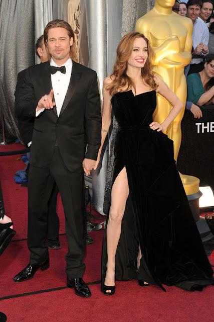 Pernas fenda lateral Angelina Jolie