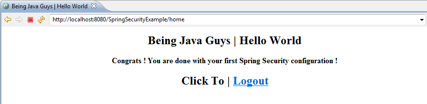 Spring Security Hello World Example - Login & Logout with Spring ...